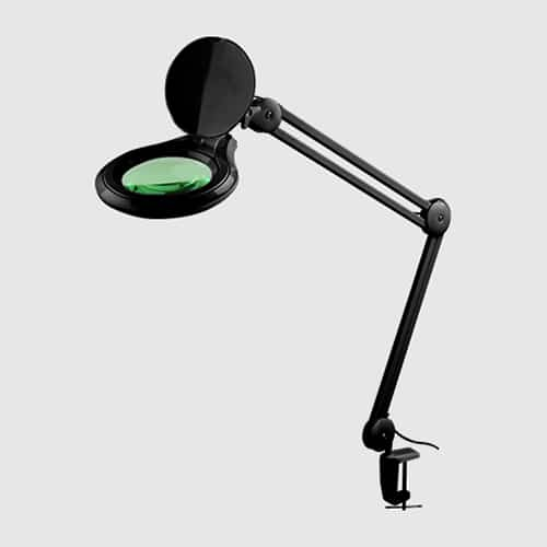 מנורת לופה 3D LED שחור - גודל 5 אינץ'