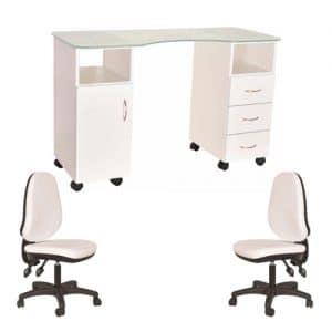 מבצע חדר מניקור - שולחן וכסאות - ביוטי דיפו