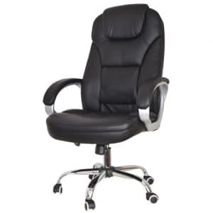 כיסא מנהלים מפואר ללקוחה - שחור