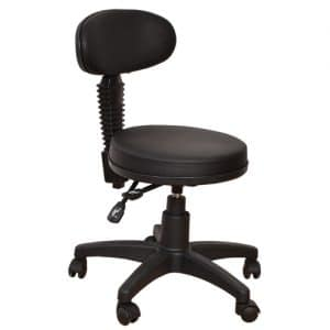 כיסא עגול עם משענת קטנה וגבוהה