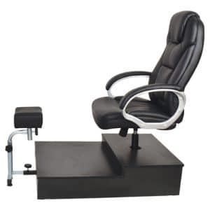 כיסא פדיקור דגם מנהלים על במה + רגלית - שחור