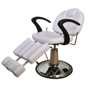 כיסא פדיקור נשכב הידראולי + 2 רגליים מפוצלות