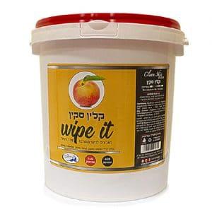 דלי מגבונים שמן אפרסק לשעווה 400 יח'
